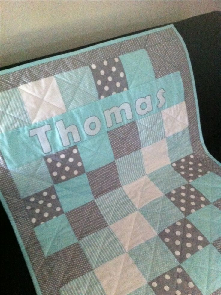 Custom order for baby named Thomas.
