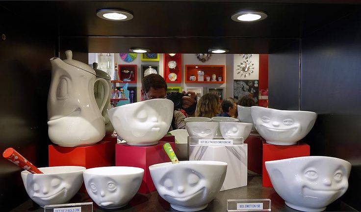 Dishware For All Emotions On Display In Paris France Photograph