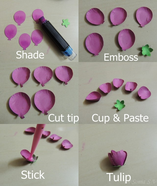 926 best craft flowers images on pinterest fabric flowers paper punchcraft flowers tutorial tulips mightylinksfo