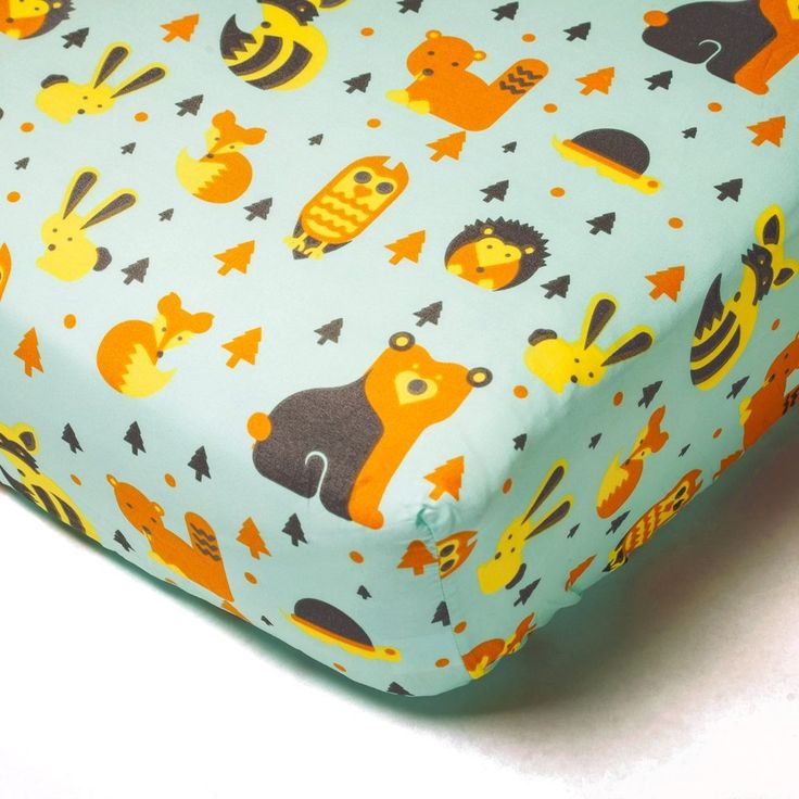 Woodland Creatures Crib Sheet by Amadora Designed Concepts