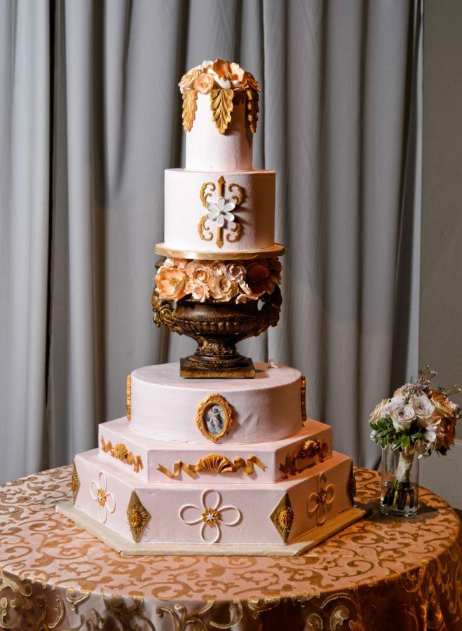 Cake at kathleen amp glenn s aristide event center wedding 187 dallas