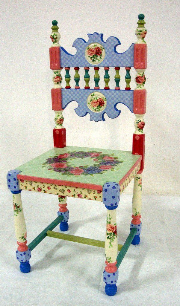 173 Best Painted Wood Chairs Images On Pinterest Painted Furniture Armchairs And Chair