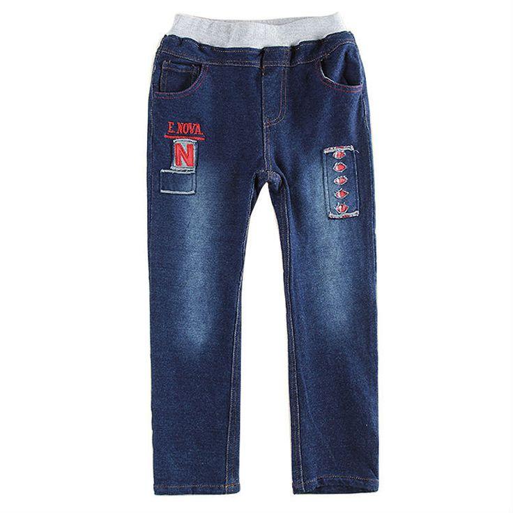 5 шт./лот пять размер 100 / 140 см novatx марки мальчики джинсы дети мальчики вышивка письма ковбой детей брюки хлопковые брюки