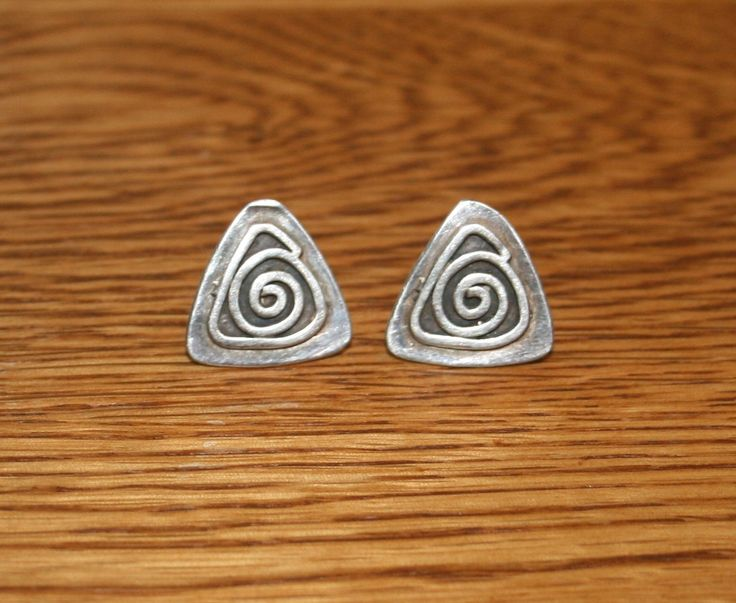 Rustic Native American Made Sterling Silver Earrings plus Free USA Shipping! by Route66Diner on Etsy