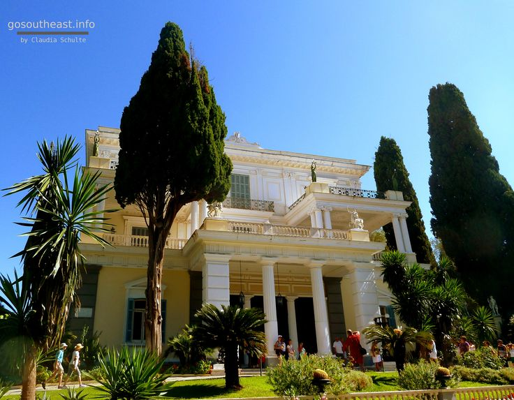 Achilleion Palace, one of the most popular tourist destinations on Corfu