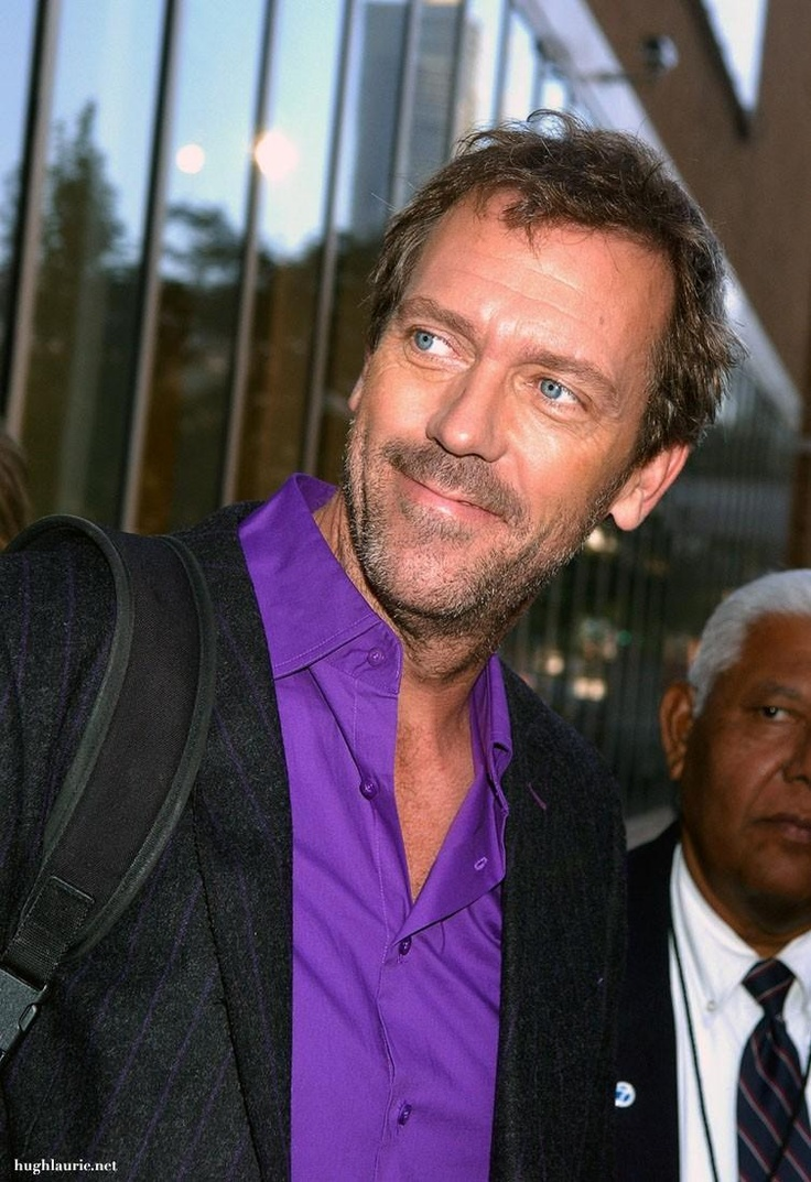 Wow! Another example of the purple shirt of sex.. not sure where to pin it yet. Hugh Laurie
