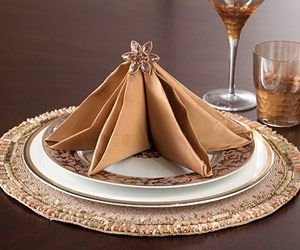 Easy Napkin-Folding Ideas for Your Holiday Table