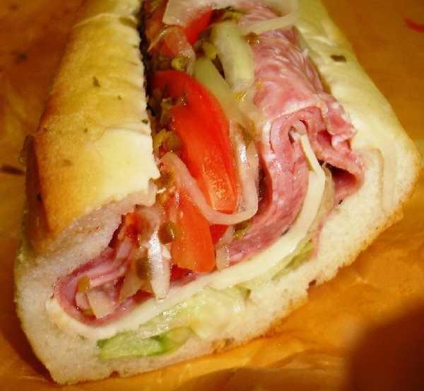 "Submarine sandwich...NJ style, aka ""the sub""."
