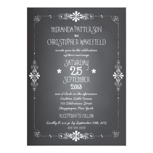 Chalkboard Wedding Invitation Chalkboard Mason Jar Wedding Invitation with RSVP
