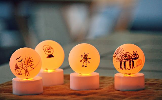 Snowglobe Lights Made From Battery Powered Votives And A