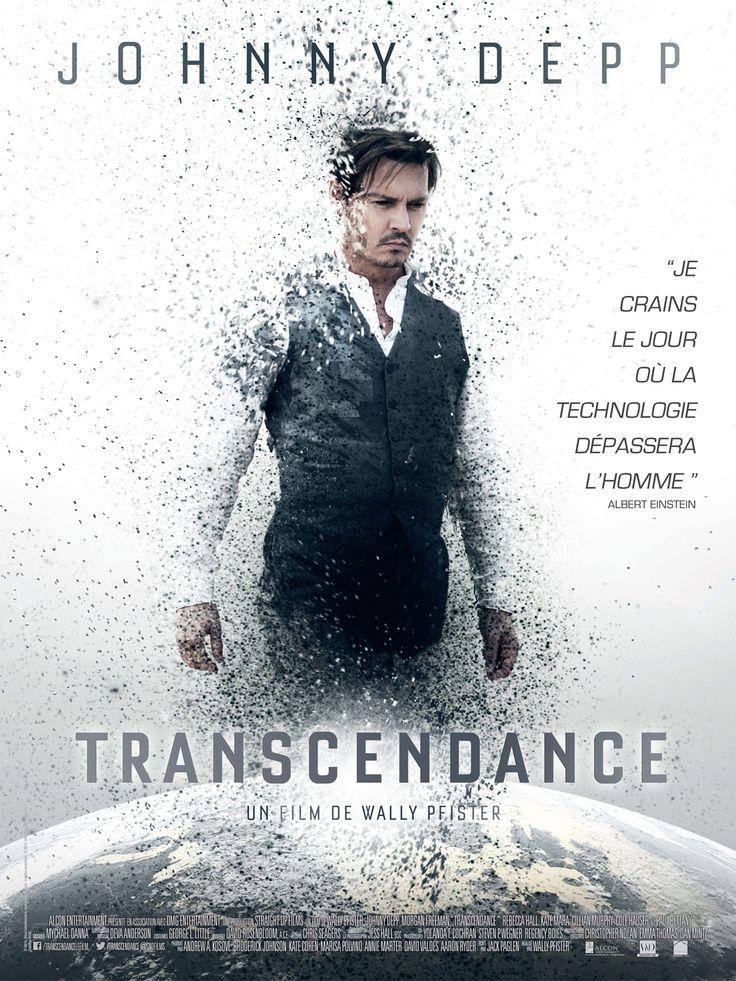 Transcendance est un film de Wally Pfister avec Johnny Depp, Rebecca Hall.  Pas terrible comme film