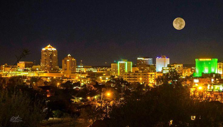 Downtown Albuquerque  Super moon  11 14 16 Richard Estrada