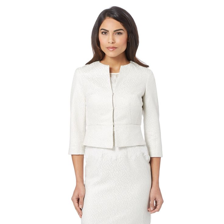 Debut Ivory jacquard jacket- at Debenhams.com
