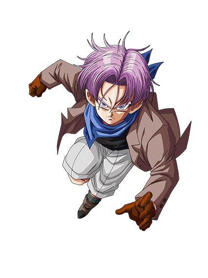 Trunks (トランクス Torankusu) es un mestizo entre humano terrícola y Saiyajin, e hijo de Bulma y Vegeta, y más tarde se convierte en el hermano mayor de su hermana Bra. El nombre de Trunks es un juego de palabras para referirse a la ropa interior masculina, curiosamente este nombre es reautilizado por Akira Toriyama puesto que el anteriormente habia llamado Trunks al esposo de Ranfan.