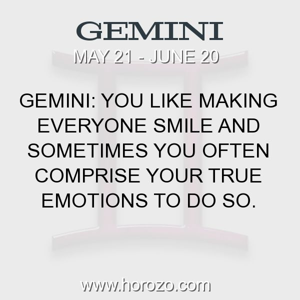 Fact about Gemini: Gemini: You like making everyone smile and sometimes you... #gemini, #geminifact, #zodiac. Gemini, Join To Our Site https://www.horozo.com You will find there Tarot Reading, Personality Test, Horoscope, Zodiac Facts And More. You can also chat with other members and play questions game. Try Now!