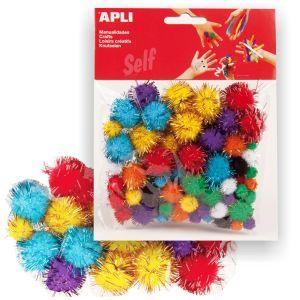 Pompones Brillantes Apli Surtidos para manualidades 78 uds http://www.selfpaper.com/html/pompones-brillantes-para-manualidades-g.html