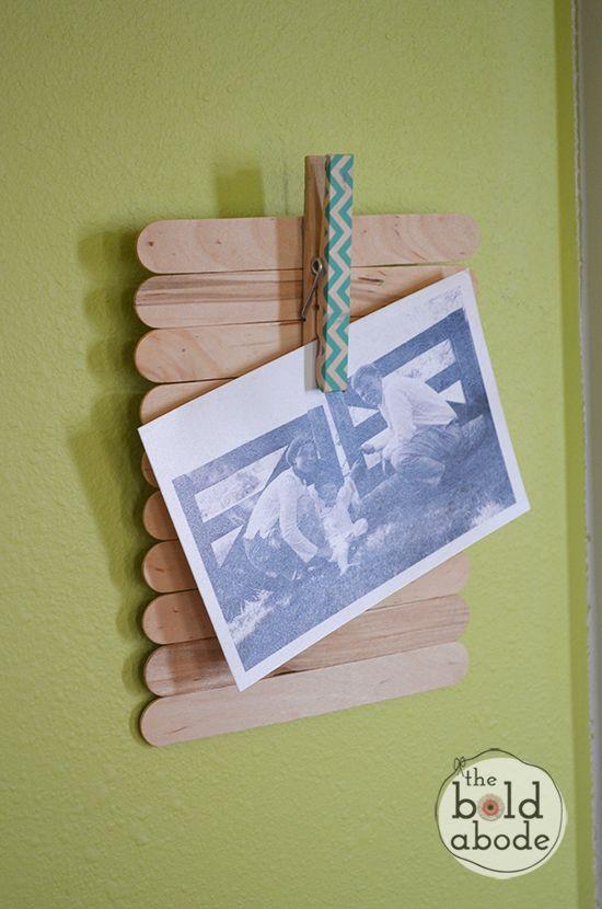 popsicle stick frame