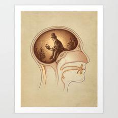 Art Print featuring Mind Reader by Enkel Dika