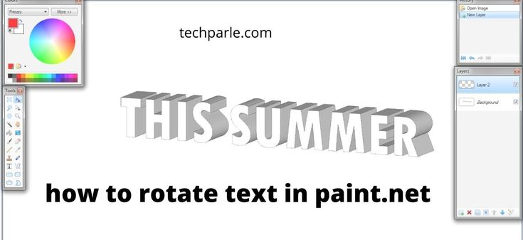 How To Rotate Text In Paint.net