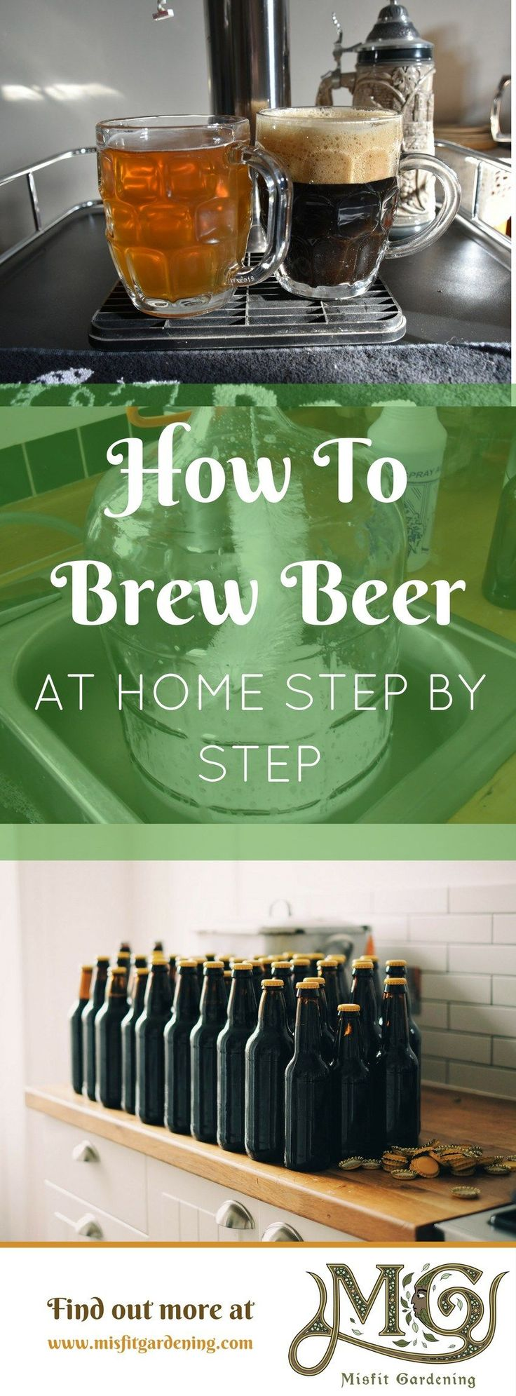 How to brew beer at home step by step. Click to find out how to make beer and home brew or pin it for later #homebrewing