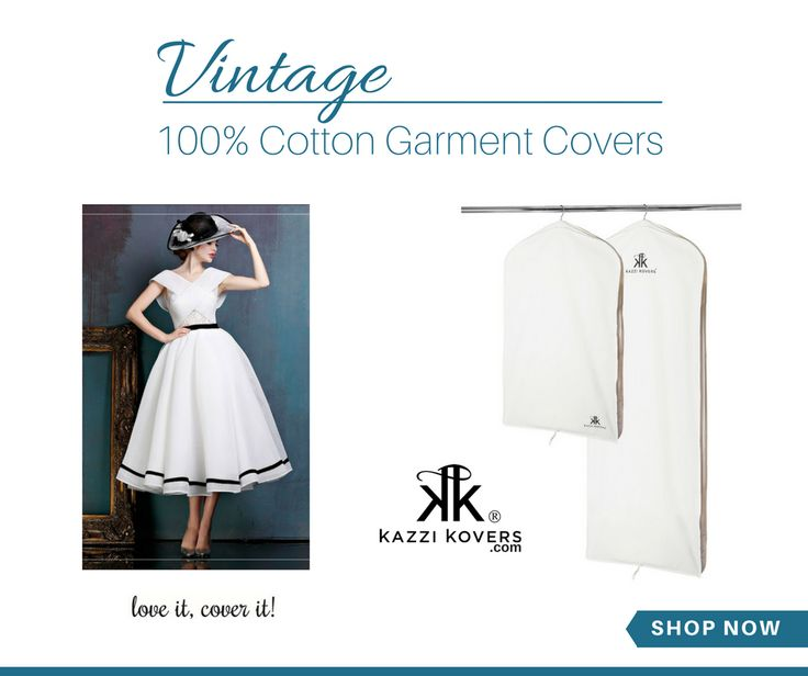 Safeguard your delicate vintage pieces in 100% Cotton Garment Bags.