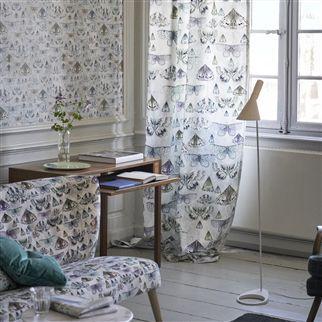 Charonda Zinc Fabric | Designers Guild