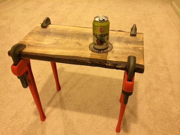 Pipe Wrench Table by matthewtmead [Instructables]
