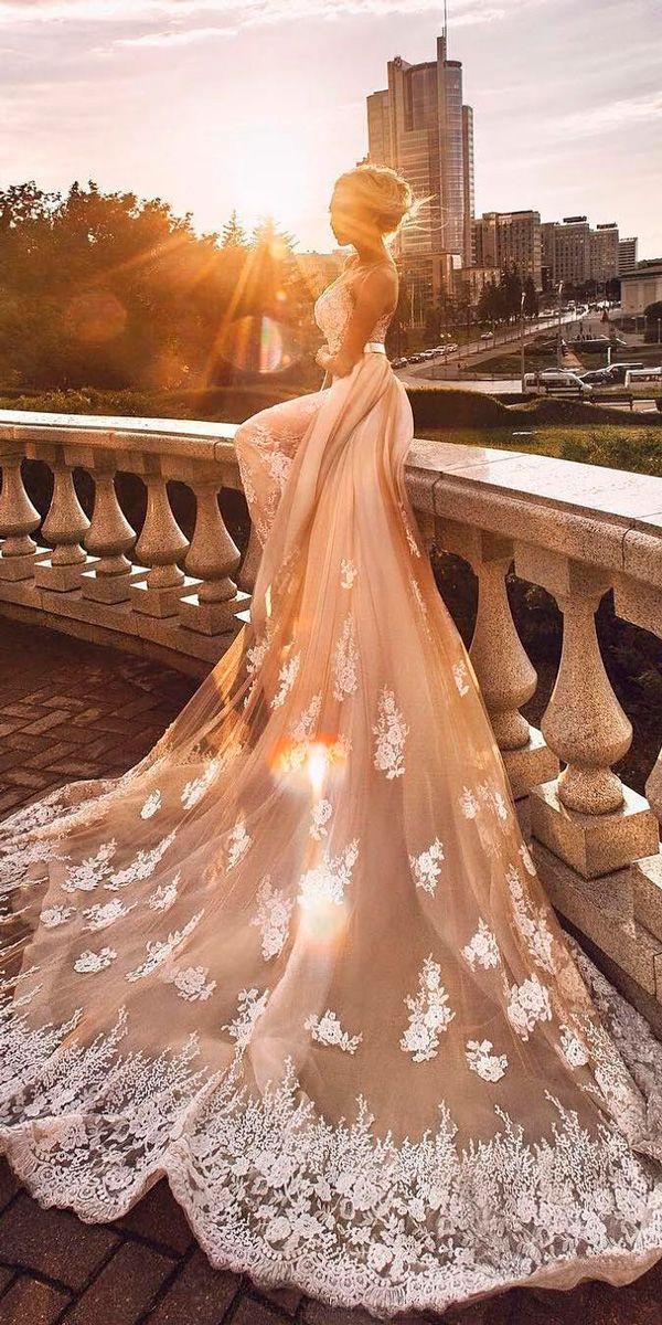 24 Amazing Milla Nova Wedding Dresses ❤ milla nova wedding dresses strapless sweetheart with overskirt lace with train ❤ See more: http://www.weddingforward.com/milla-nova-wedding-dresses/ #weddingforward #wedding #bride