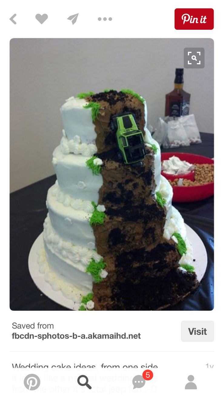 Jeep wedding cake - White Trash party - Jeep Cake - Grooms cake ideas - Car cakes