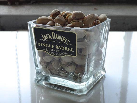 Jack Daniels Single Barrel Nut Dish / Candy Dish by Rehabulous, $29.99