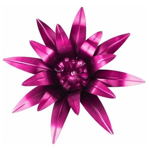 exhart metal flower wall decor with rhinestones pink decorate your walls with more than just