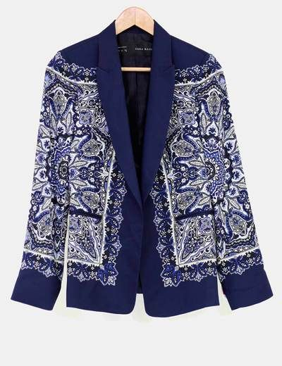 Blazer estampado pañuelo Zara