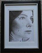 """Framed Pencil Drawing """"Deep In Thought"""""""