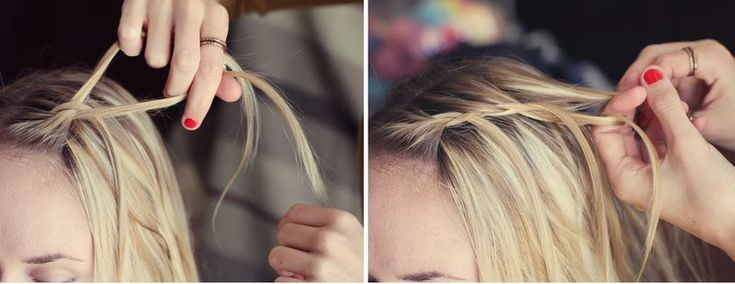 My daughter's friend showed me how to do this - one thing this does not mention is that you always need to do like a French braid every time you braid the top strand - pick some up from right beside the top braid & add to it. This is a fun do!
