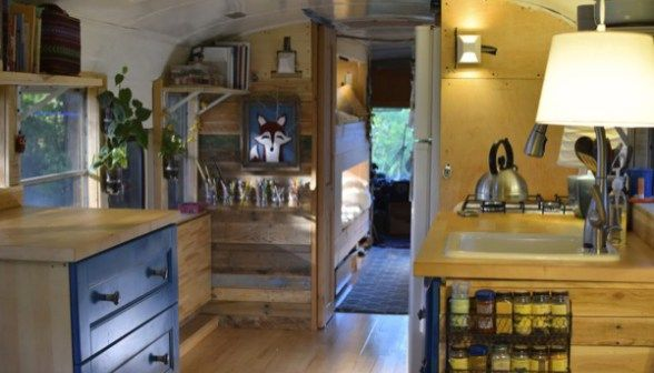 Family of 6 Living Tiny in Converted School Bus