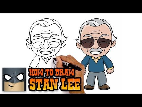 How To Draw Stan Lee Tribute Tutorial Youtube In 2020
