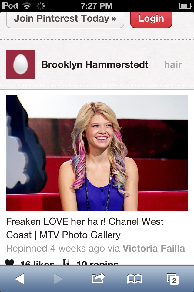 Im in LOVE with Chanel West-coasts hair I could never pull it off, but I think its awesome!!