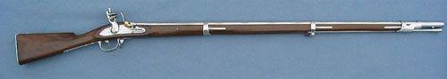 Французкий пехотный мушкет 1777 ,модель была последняя на длинной линии модификаций к 1728 образцовому французскому Мушкету ,  часть щеки, вырезанная в торце. Наполеоновская версия слегка различная передняя полоса 66 баррелей калибра - 44 3/4 дюйма длины, полная длина мушкета - 60 дюймов. мушкет использовался пехотой Наполеона в течение 1-ой Империи. А также в более поздней части Американской Революции.