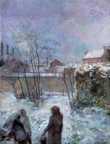 Paul Gauguin - La Rue Carcel en invierno