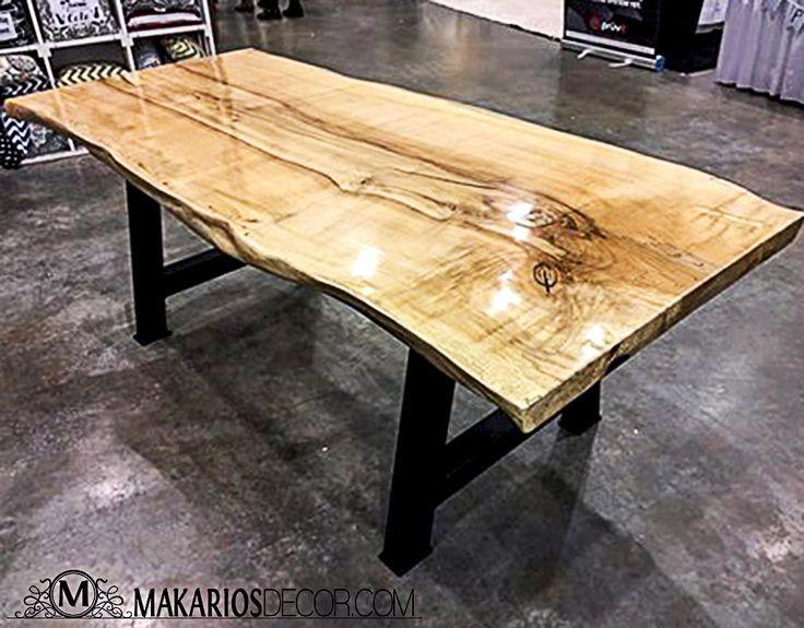 Wood Slab Table Wood Slab Dining Table Wood Slab Table Reclaimed Wood Table Live Edge Dining Table