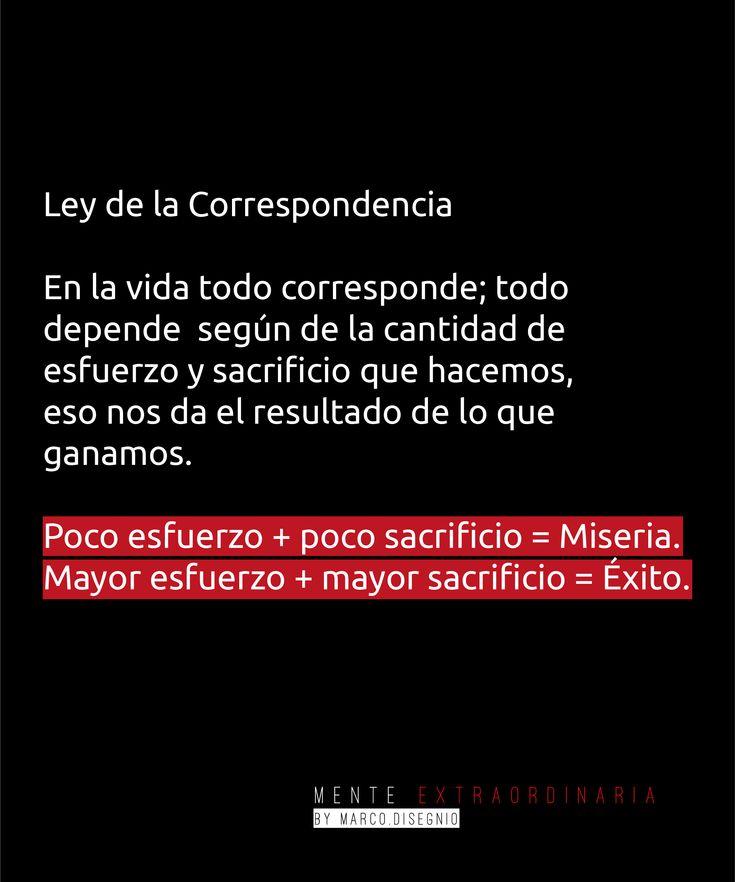 Ley de la Correspondencia #FrasesMillonarias #MentesMillonarias #Motivacion #Frases #MenteExtraordinaria #Emprendimiento #Entrepreneur #MarcoDisegnio