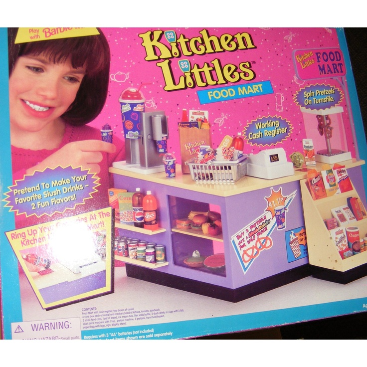 Kitchen Littles by Tyco were the most detailed realistic tiny foods, dishes, and appliances for Barbie-sized dolls. Unfortunately, Mattel bought out the company and never made comparable replacements. The little Icee Machine was fantastic!