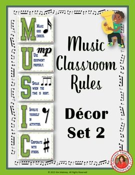 Music Classroom Decor Set: Music Class Rules Set !  ♫ CLIOK through to preview or save for later!  ♫