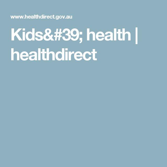 Kids' health | healthdirect