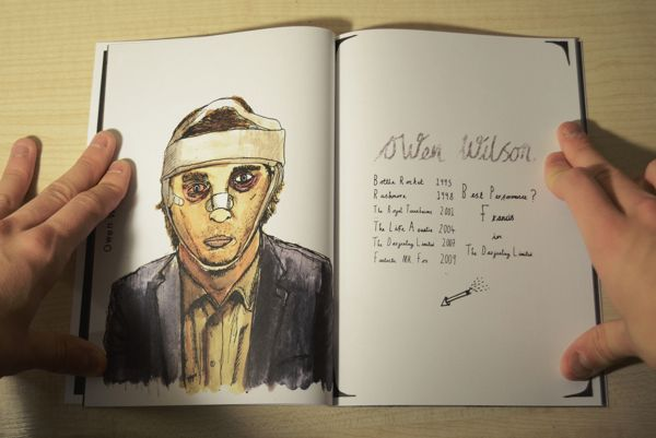 An Illustrated Guide to Wes Anderson by Jake Rowles, via Behance