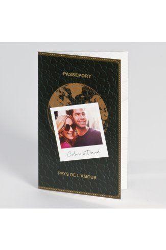 Faire-part mariage passeport