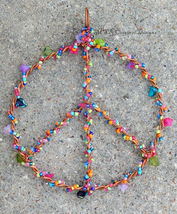 Peace Sign Wall Art 25 best sea glass wind chimes and peace sign wall art from msr