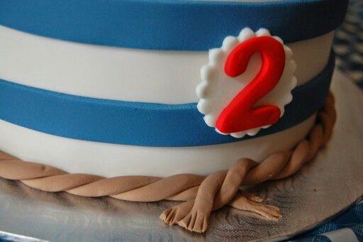Fête matelot 2 ans gâteau