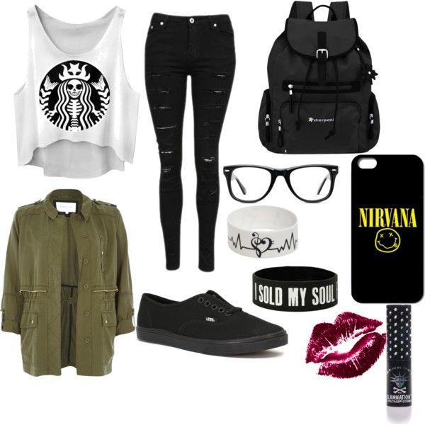 Untitled #22 by ronnieradkemine on Polyvore featuring polyvore fashion style River Island Vans Sherpani Muse Manic Panic