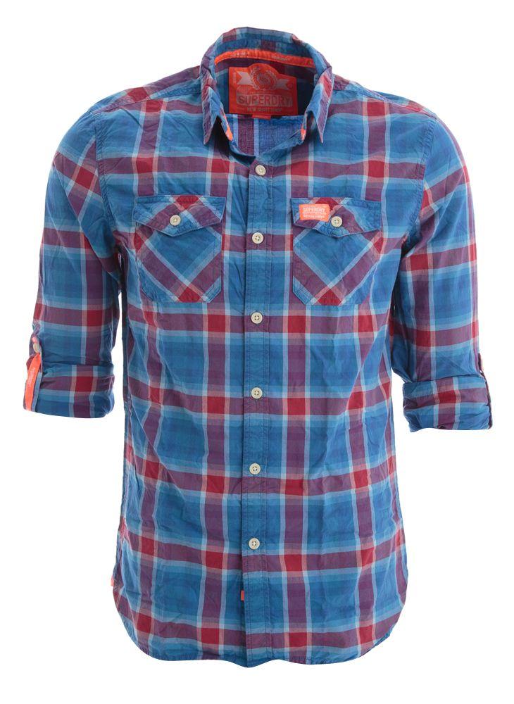 Blauw rood geruit hemd superdry online bij Deleye.be & BeKult